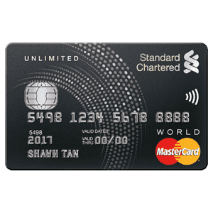 SCB Unlimited Cashback Card
